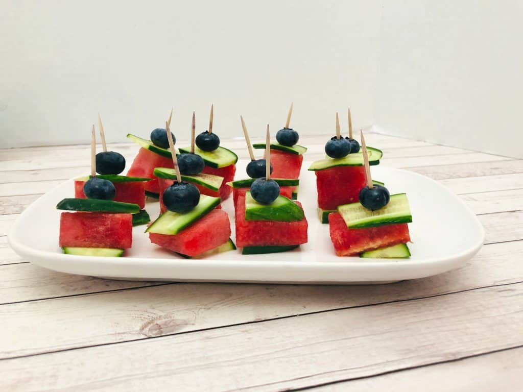 watermelon cucumber bites