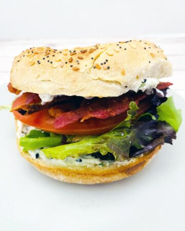 everything bagel blt sandwich