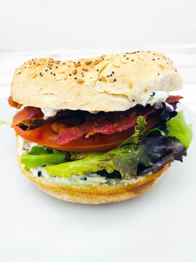 everything bagel blt sandwich