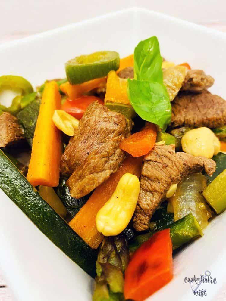 thai cashew beef