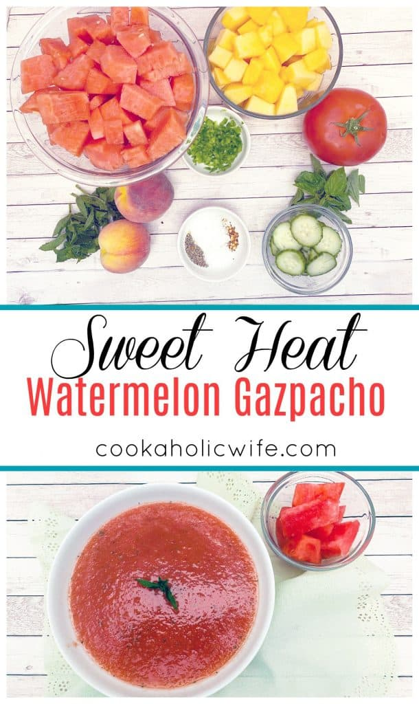 sweet heat watermelon gazpacho