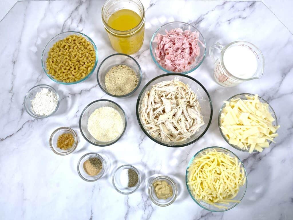 chicken cordon bleu mac and cheese ingredients