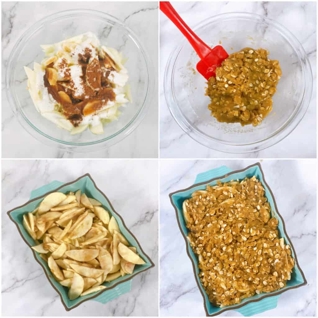 step by step instructions for old fashioned apple crisp
