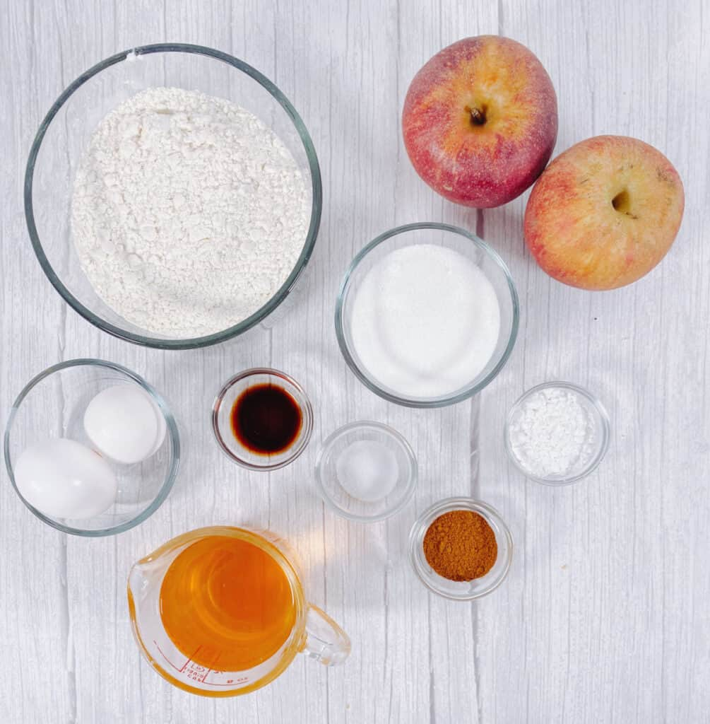 ingredients for air fryer apple fritters