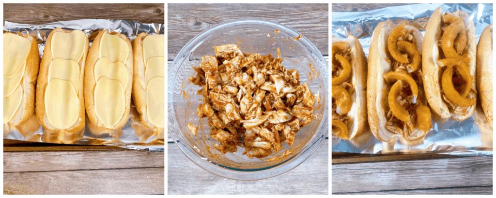 step by step instructions for making a turkey slub sandwich