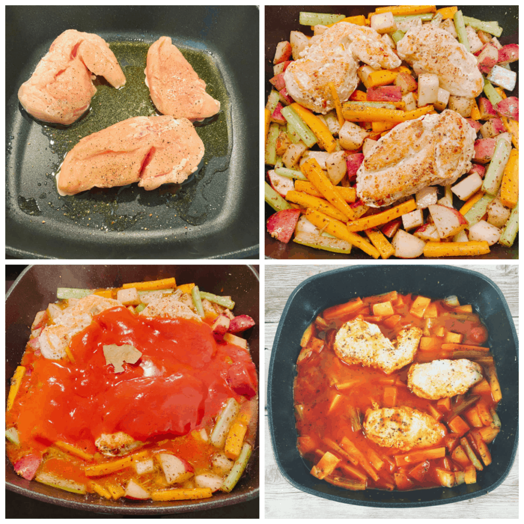 step by step instructions for mom's italian braised chicken
