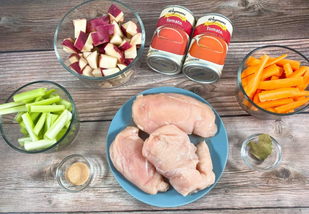 ingredients for mom's italian braised chicken