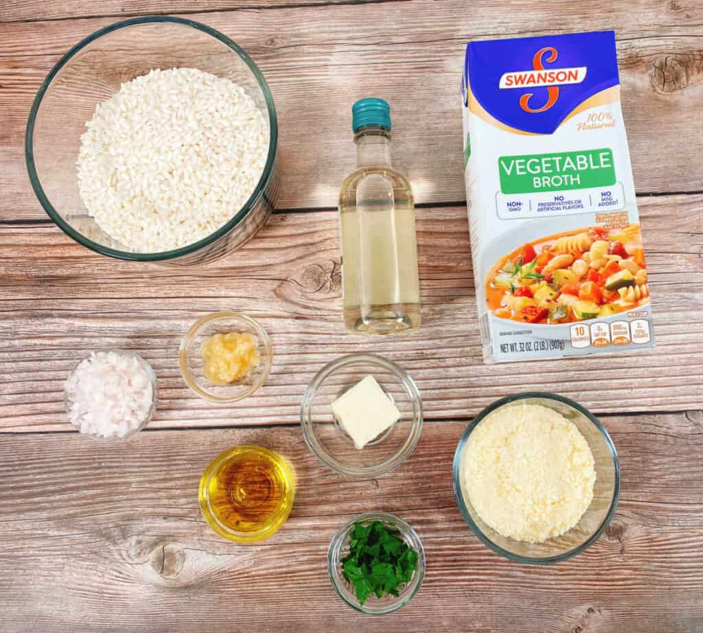 ingredients for parmesan risotto