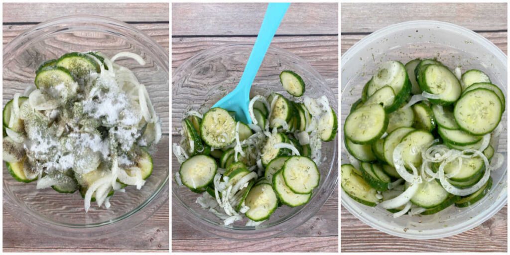 3 Image collage of the steps to make the recipe.