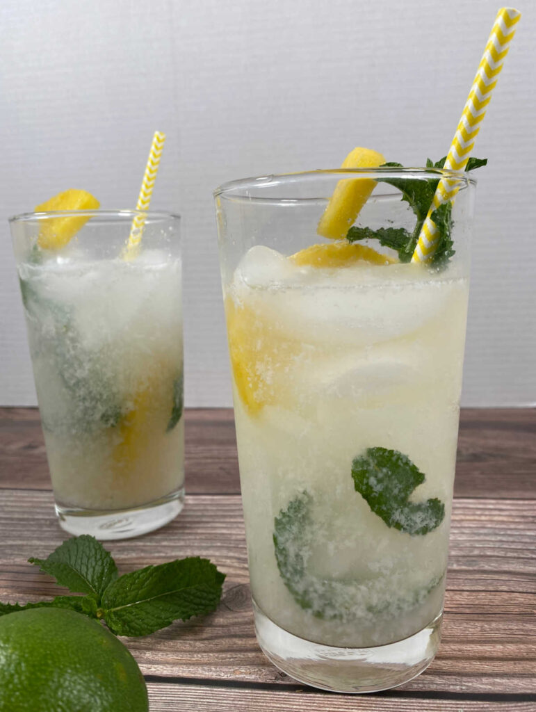 close up image of two cocktails